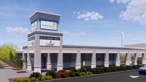 gulfport drive thru branch architectural rendering