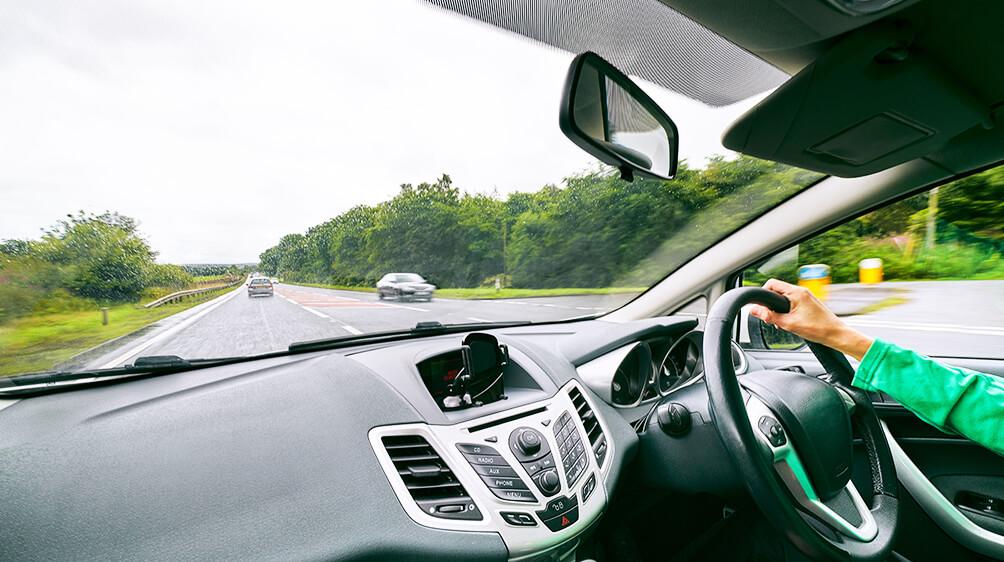lady driving in U.K.